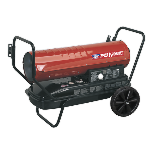 Sealey - AB1258 Space Warmer® Paraffin/Kerosene/Diesel Heater 125,000Btu/hr with Wheels