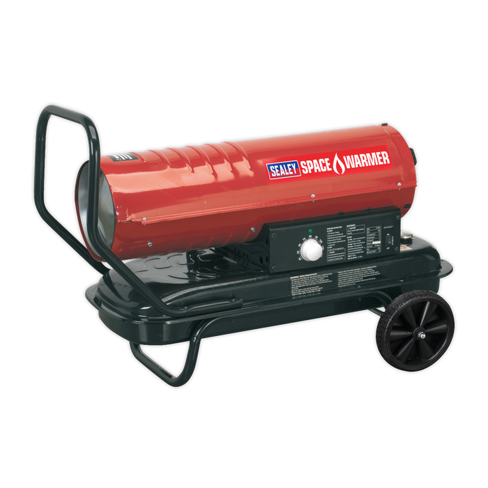 Sealey - AB7081 Space Warmer® Paraffin/Kerosene/Diesel Heater 70,000Btu/hr with Wheels