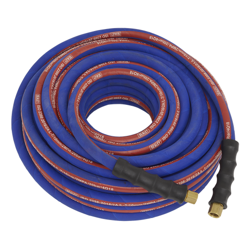 "Sealey - AH20R Air Hose 20m x Ø8mm with 1/4""BSP Unions Extra Heavy-Duty"