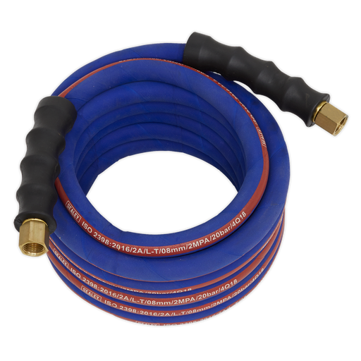 "Sealey - AH5R Air Hose 5m x Ø8mm with 1/4""BSP Unions Extra Heavy-Duty"