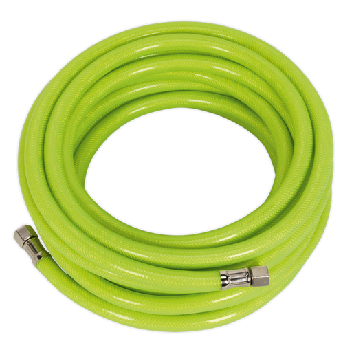 "Sealey - AHFC10 Air Hose High Visibility 10m x Ø8mm with 1/4""BSP Unions"