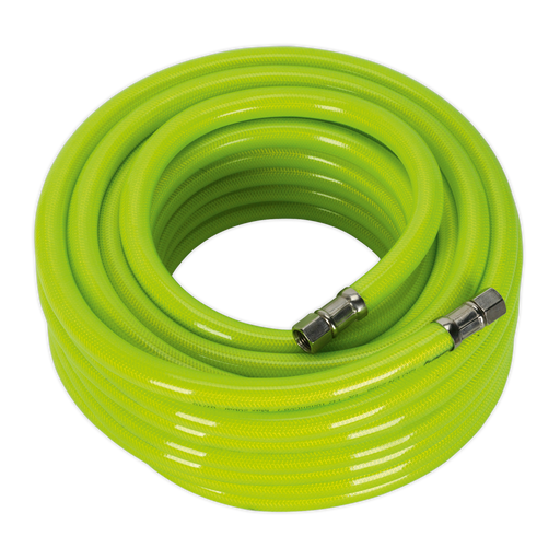 "Sealey - AHFC1538 Air Hose High Visibility 15m x Ø10mm with 1/4""BSP Unions"