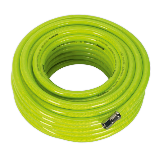 "Sealey - AHFC20 Air Hose High Visibility 20m x Ø8mm with 1/4""BSP Unions"