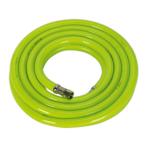"Sealey - AHFC538 Air Hose High Visibility 5m x Ø10mm with 1/4""BSP Unions"