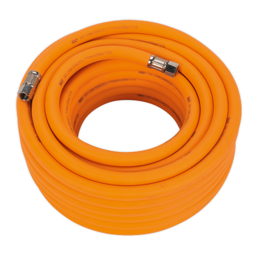 "Sealey - AHHC1538 Air Hose 15m x Ø10mm Hybrid High Visibility with 1/4""BSP Unions"