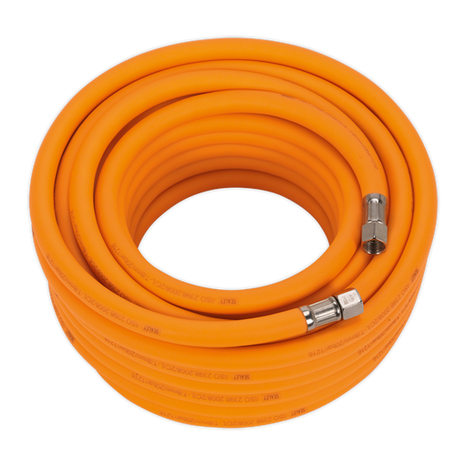 "Sealey - AHHC15 Air Hose 15m x Ø8mm Hybrid High Visibility with 1/4""BSP Unions"
