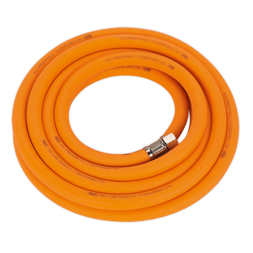 "Sealey - AHHC538 Air Hose 5m x Ø10mm Hybrid High Visibility with 1/4""BSP Unions"