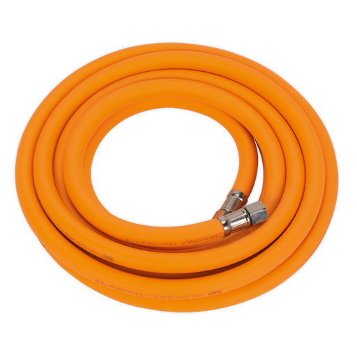 "Sealey - AHHC5 Air Hose 5m x Ø8mm Hybrid High Visibility with 1/4""BSP Unions"