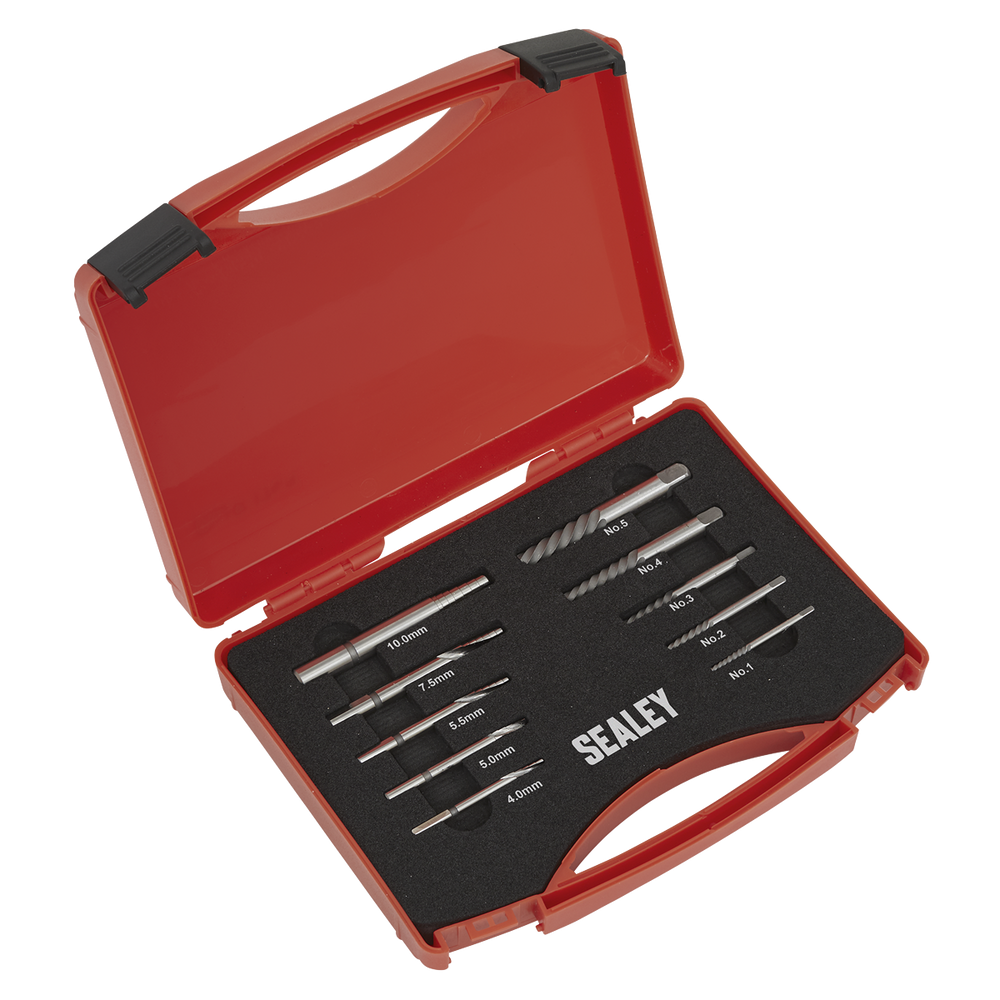 Sealey - AK8187 Step Drill Screw/Bolt Extractor Set 10pc