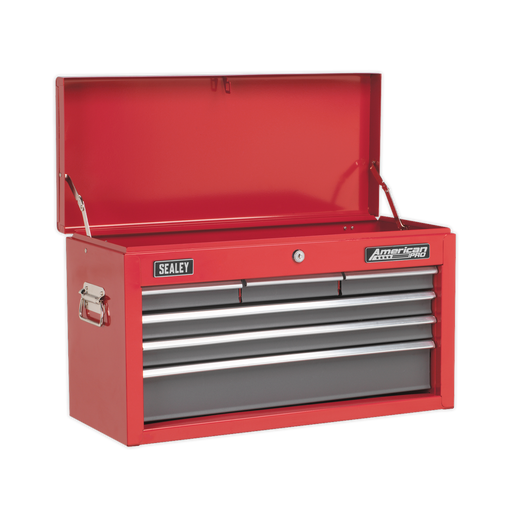 Sealey - AP2201BB Topchest 6 Drawer with Ball Bearing Slides - Red/Grey