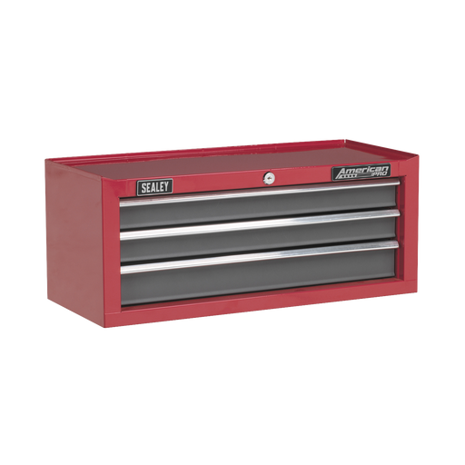 Sealey - AP22309BB Mid-Box 3 Drawer with Ball Bearing Slides - Red/Grey