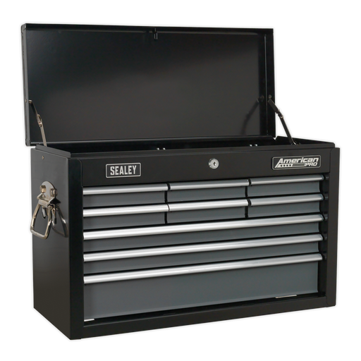Sealey - AP2509B Topchest 9 Drawer with Ball Bearing Slides - Black/Grey