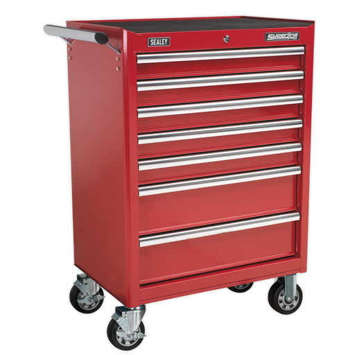 Sealey - AP33479 Rollcab 7 Drawer with Ball Bearing Slides - Red