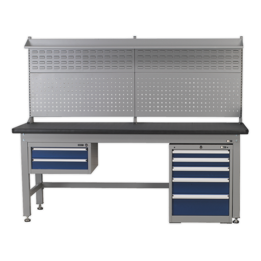 Sealey - 1.8m Complete Industrial Workstation & Cabinet Combo