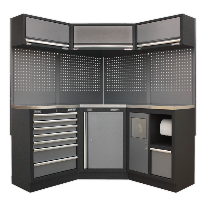 Sealey - APMSSTACK08SS Modular Storage System Combo - Stainless Steel Worktop