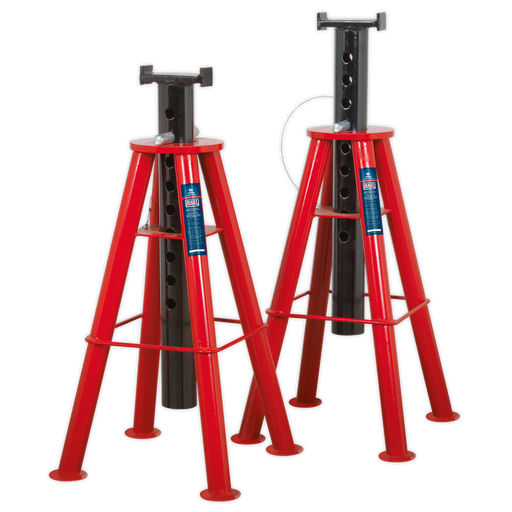 Sealey - AS10H Axle Stands (Pair) 10tonne Capacity per Stand High Level