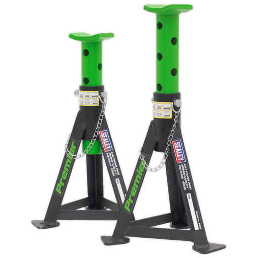 Sealey - AS3G Axle Stands (Pair) 3tonne Capacity per Stand Green
