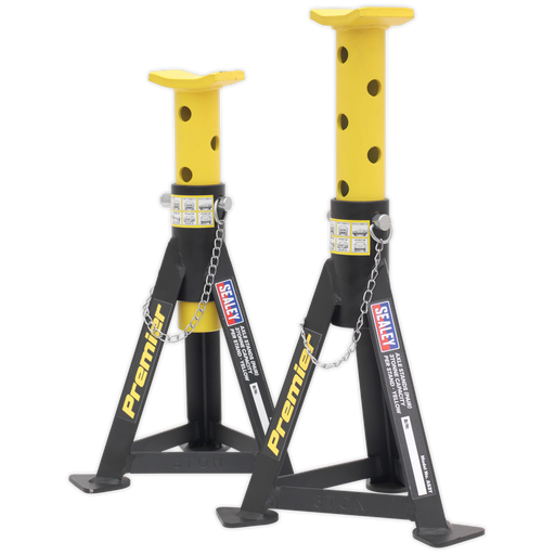 Sealey - AS3Y Axle Stands (Pair) 3tonne Capacity per Stand Yellow