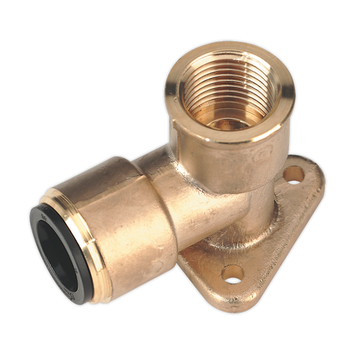 "Sealey - CAS22BWE Wingback Elbow 22mm x 3/4""BSP Brass (John Guest Speedfit® - PM22WB)"