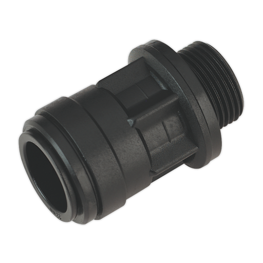 "Sealey - CAS22SA Straight Adaptor 22mm 3/4""BSP Pack of 2 (John Guest Speedfit® - PM012216E)"