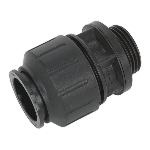 "Sealey - CAS28SA Straight Adaptor 28mm 1""BSP Pack of 2 (John Guest Speedfit® - PM012818E)"