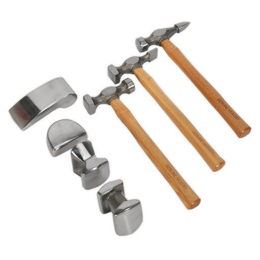 Sealey - CB507 Panel Beating Set 7pc Drop-Forged Hickory Shafts