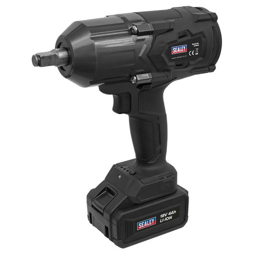 "Certified Refurbished Sealey CP1812 - Cordless Impact Wrench 18V 4Ah Lithium-ion 1/2""Sq Drive"