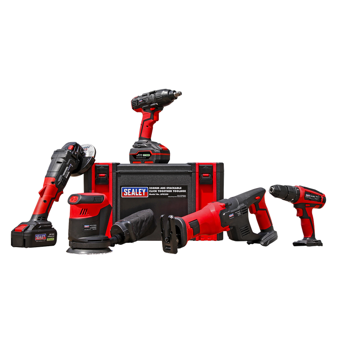 Sealey - CP20VCOMBO2 CP20V Series 5 x 20V Cordless Tool Combo - 2 Batteries