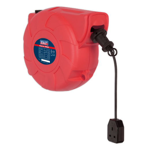 Sealey - CRM251 Cable Reel System Retractable 25m 1 x 230V Socket
