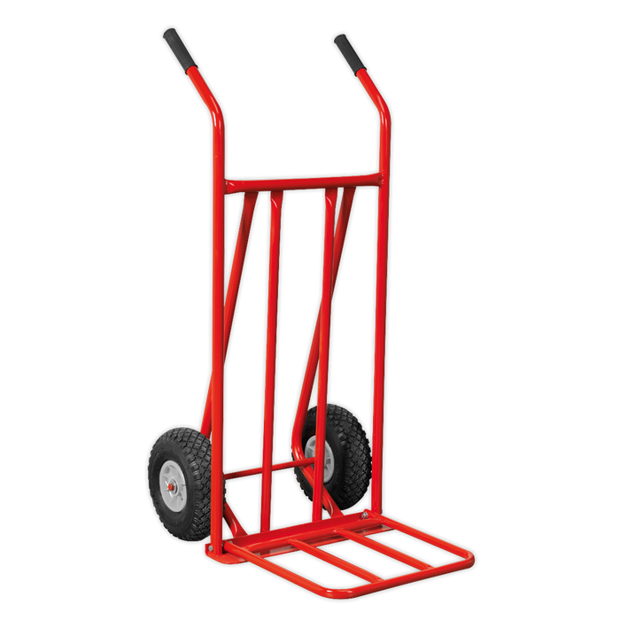 Sealey - CST800 Sack Truck with Pneumatic Tyres & Foldable Toe 150kg Capacity