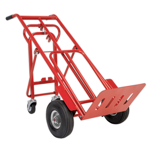 Sealey - CST989 Sack Truck 3-in-1 with Pneumatic Tyres 250kg Capacity