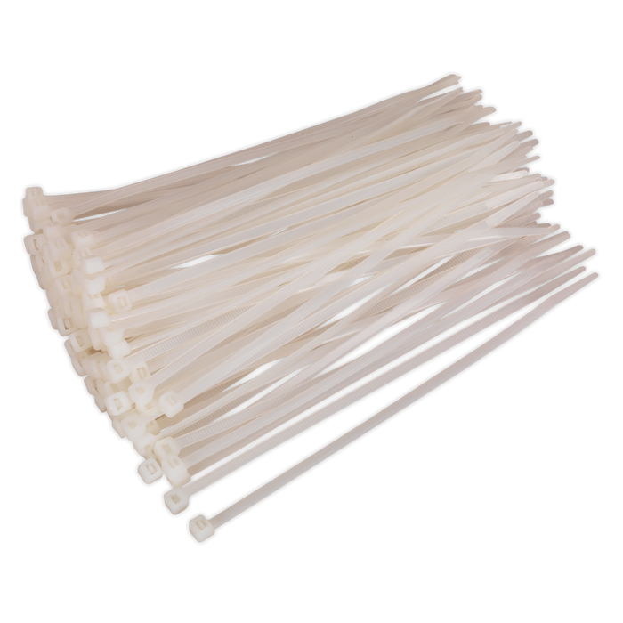 Sealey - CT20048P100W Cable Tie 200 x 4.8mm White Pack of 100