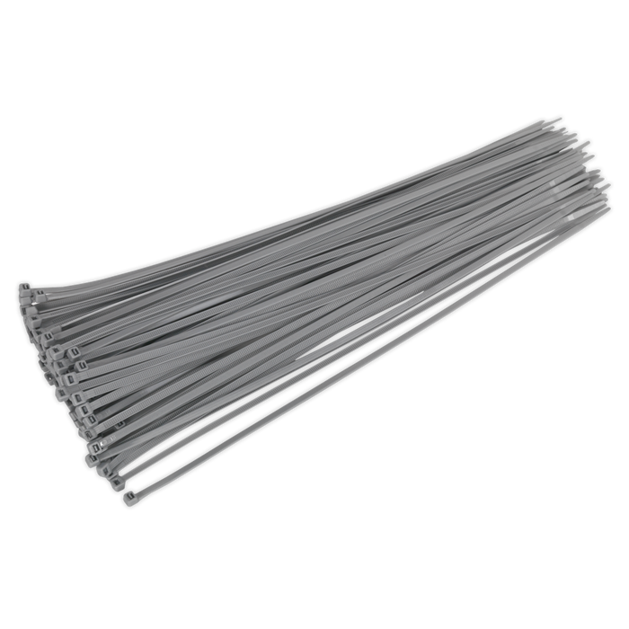 Sealey - CT38048P100S Cable Tie 380 x 4.8mm Silver Pack of 100