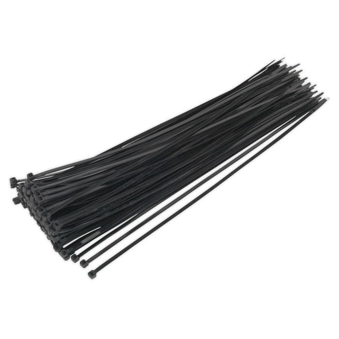 Sealey - CT38048P100 Cable Tie 380 x 4.8mm Black Pack of 100
