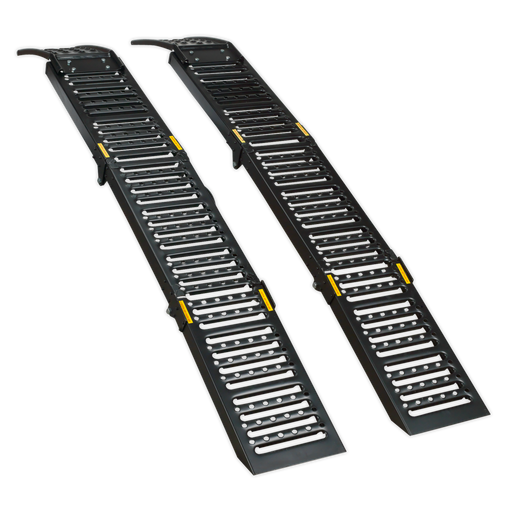 Sealey - FCR500 Steel Folding Loading Ramps 500kg Capacity per Pair