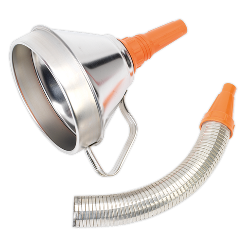 Sealey - FM16F Funnel Metal with Flexible Spout & Filter Ø160mm