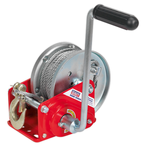 Sealey - GWC2000B Geared Hand Winch with Brake & Cable 900kg Capacity