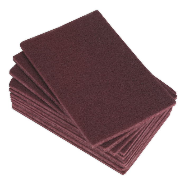 Sealey - HP1523M Abrasive Finishing Pad 150 x 230mm Medium Pack of 10