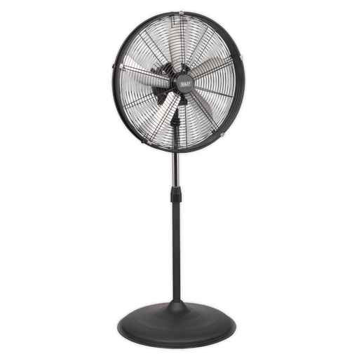 "Sealey - HVF20PO Industrial High Velocity Oscillating Pedestal Fan 20"" 230V"