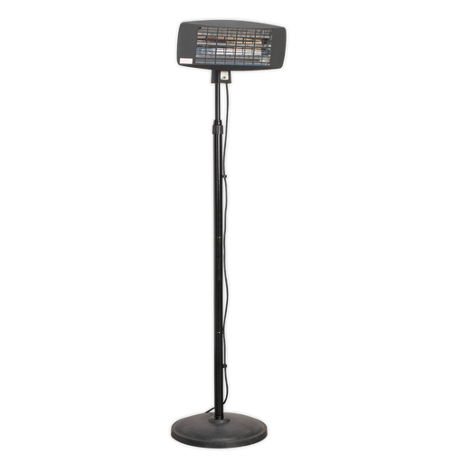 Sealey - IFSH2003 Infrared Quartz Patio Heater 2000W/230V with Telescopic Floor Stand