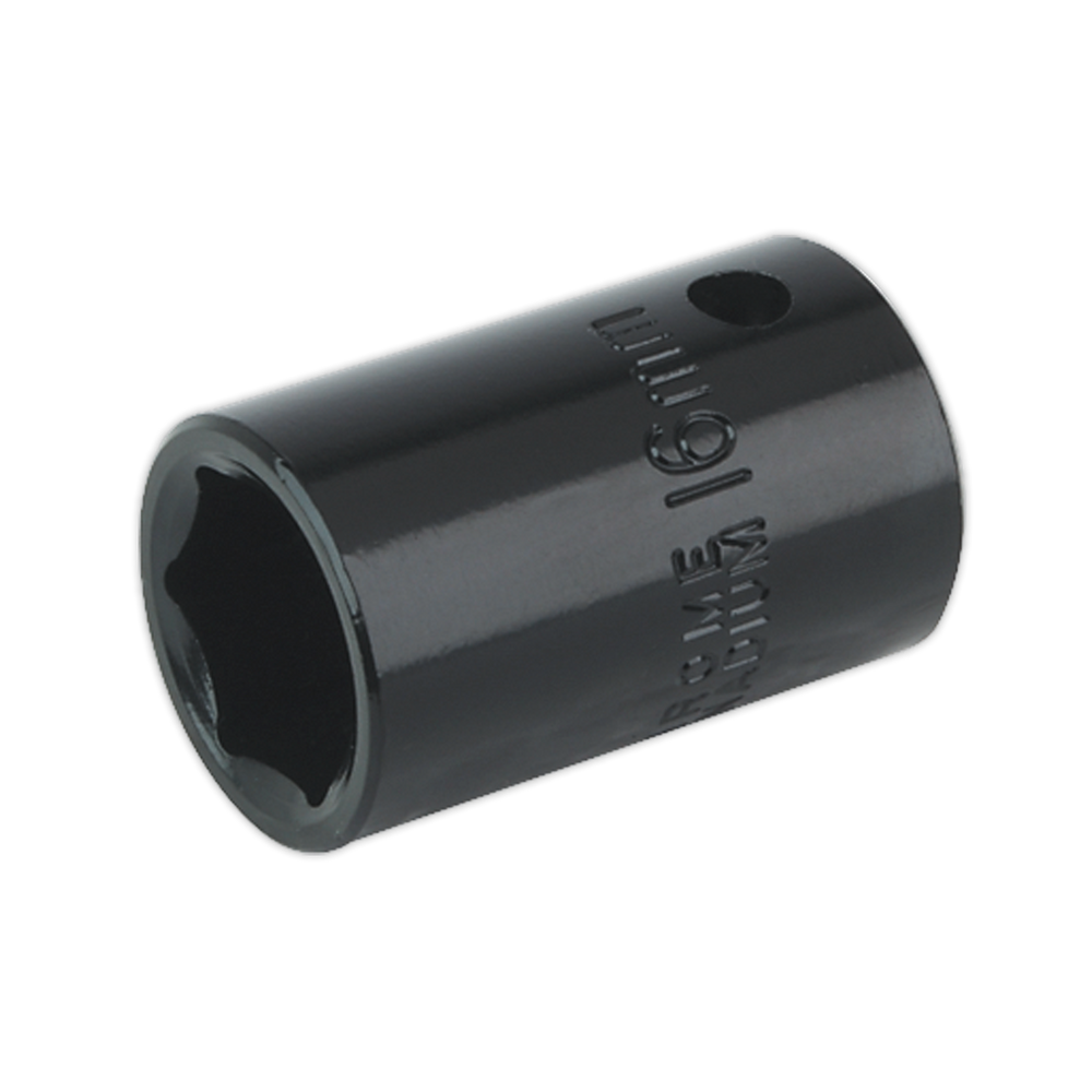 "Sealey - IS1216 Impact Socket 16mm 1/2""Sq Drive"