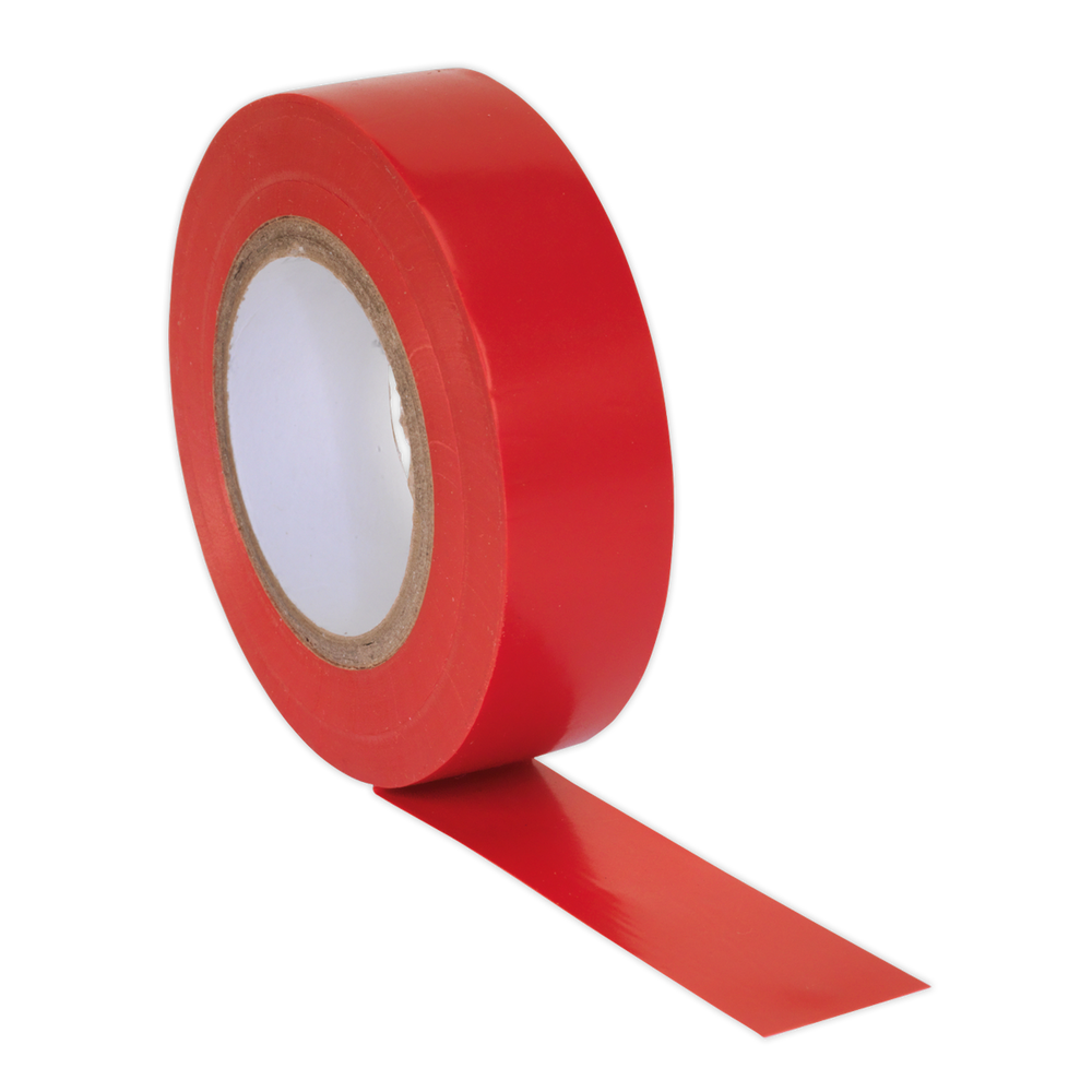 Sealey - ITRED10 PVC Insulating Tape 19mm x 20m Red Pack of 10
