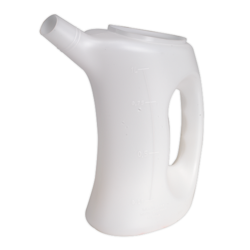 Sealey - J1 Measuring Jug with Rigid Spout 1ltr