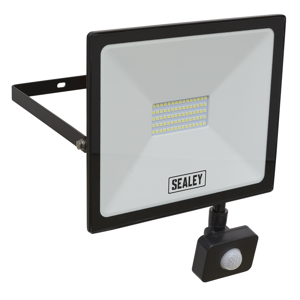 Sealey - LED113PIR Extra Slim Floodlight with PIR Sensor 50W SMD LED