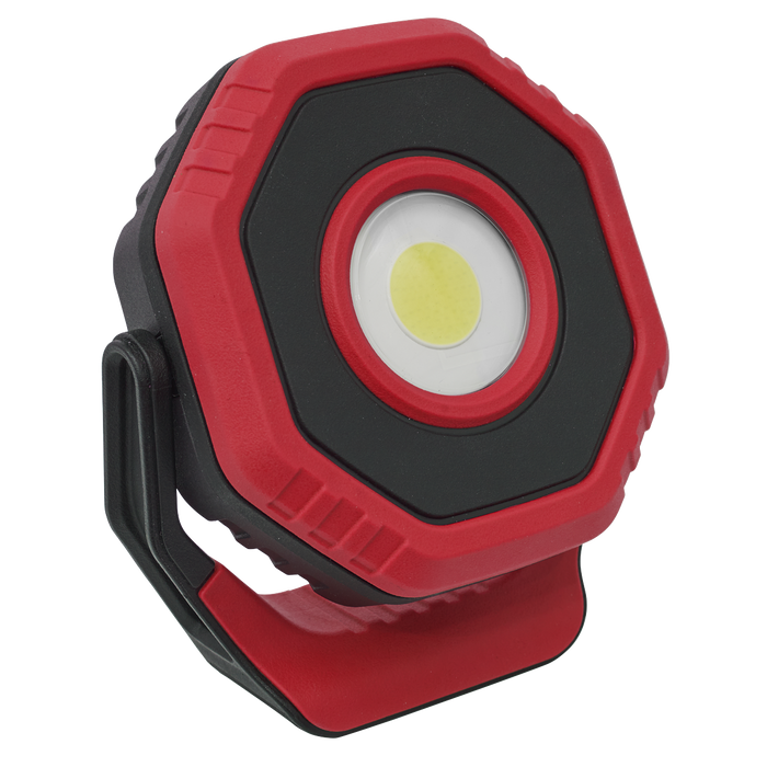 Sealey - LED1400PR Rechargeable Pocket Floodlight with Magnet 360° 14W COB LED - Red