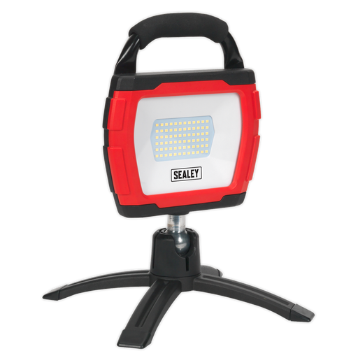 Sealey - LED360FR Rechargeable 360° Floodlight 36W SMD LED Portable Red Lithium-ion