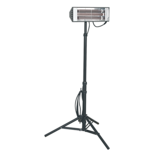 Sealey - LP1500 Infrared Quartz Heater with Telescopic Tripod Stand 1500W/230V