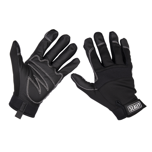 Sealey - MG798XL Mechanic's Gloves Light Palm Tactouch - X-Large