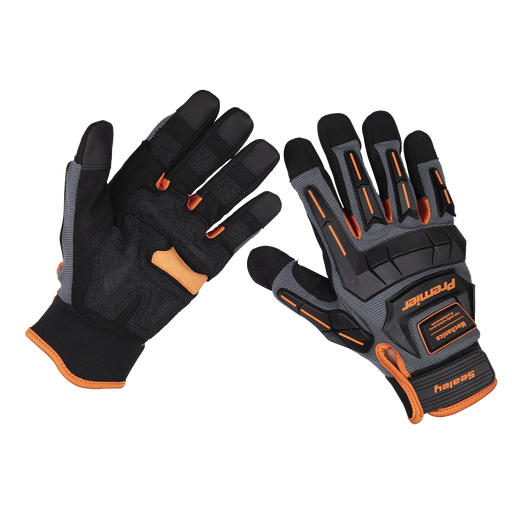 Sealey - MG803XL Mechanic's Gloves Anti-Collision - Extra Large