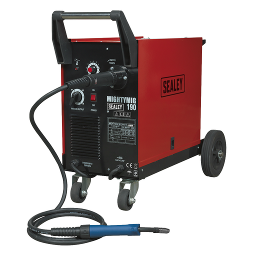 Sealey - MIGHTYMIG190 Professional Gas/No-Gas MIG Welder 190Amp with Euro Torch
